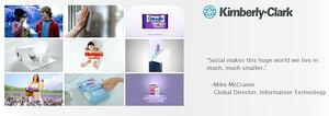 Social CRM Kimberly Clark provided by Salesforce