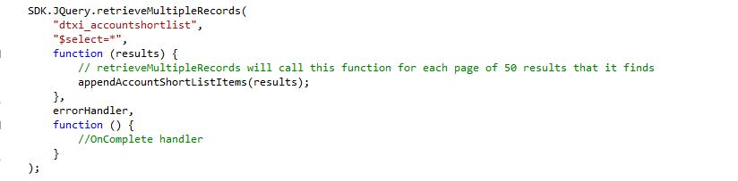 dynamics crm code