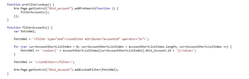 dynamics crm code lookup