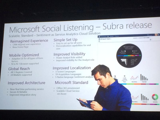 Microsoft social listening subra
