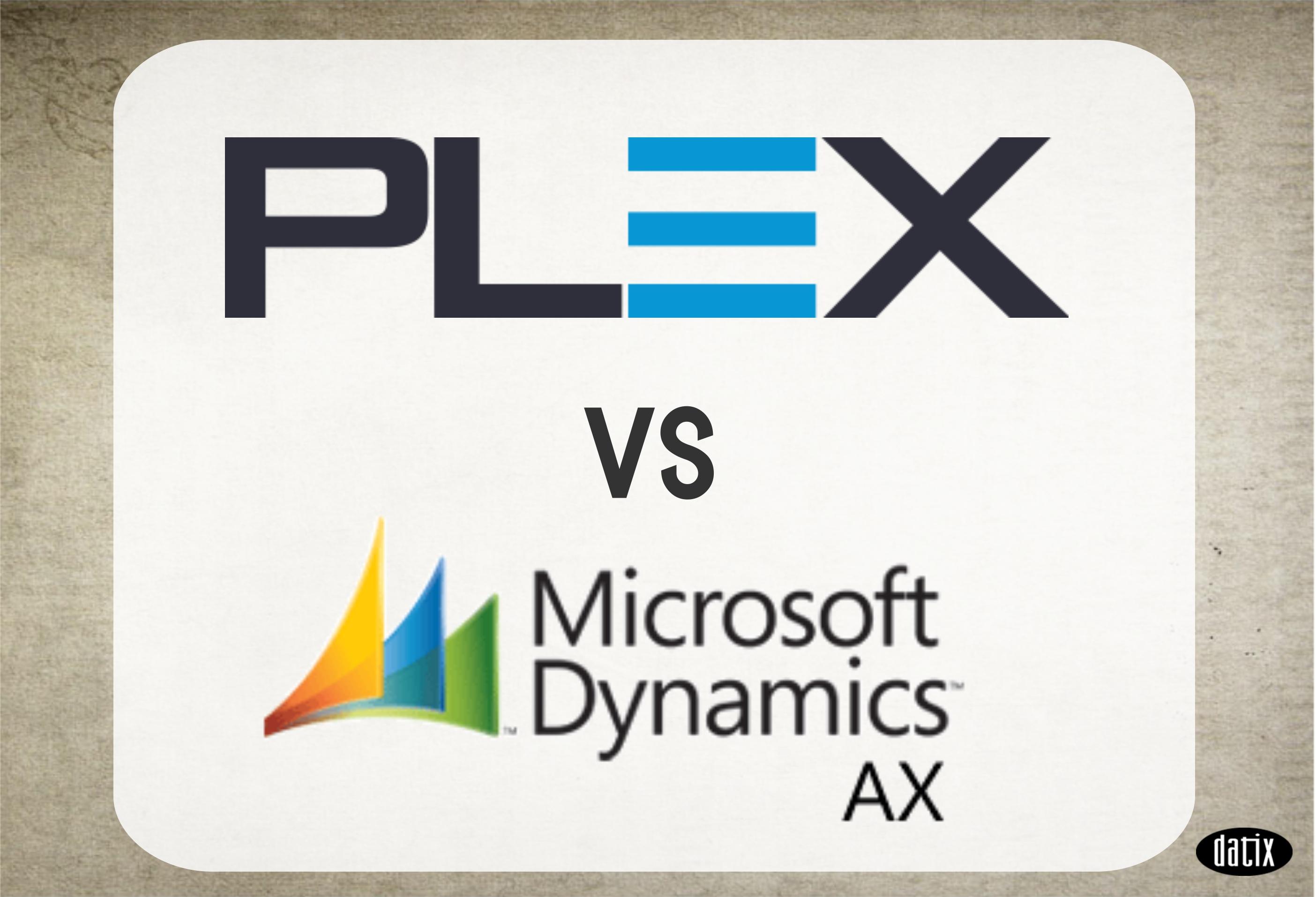 dynamics ax vs plex