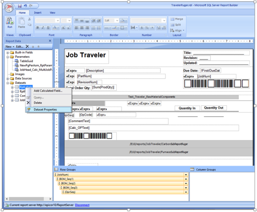 create ssrs reporting