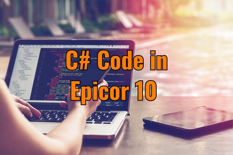 c# code epicor 10