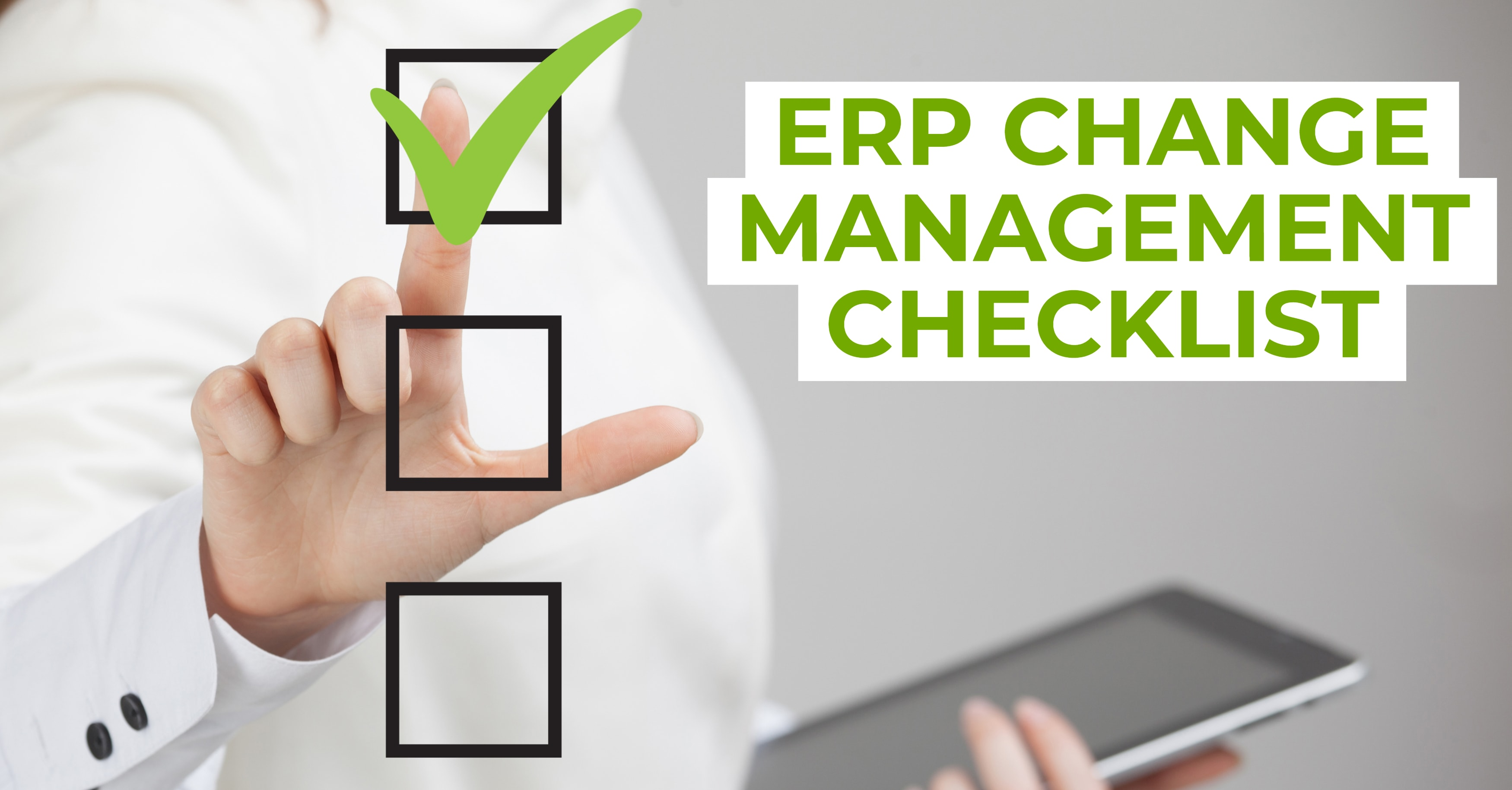 ERP Change Management Checklist
