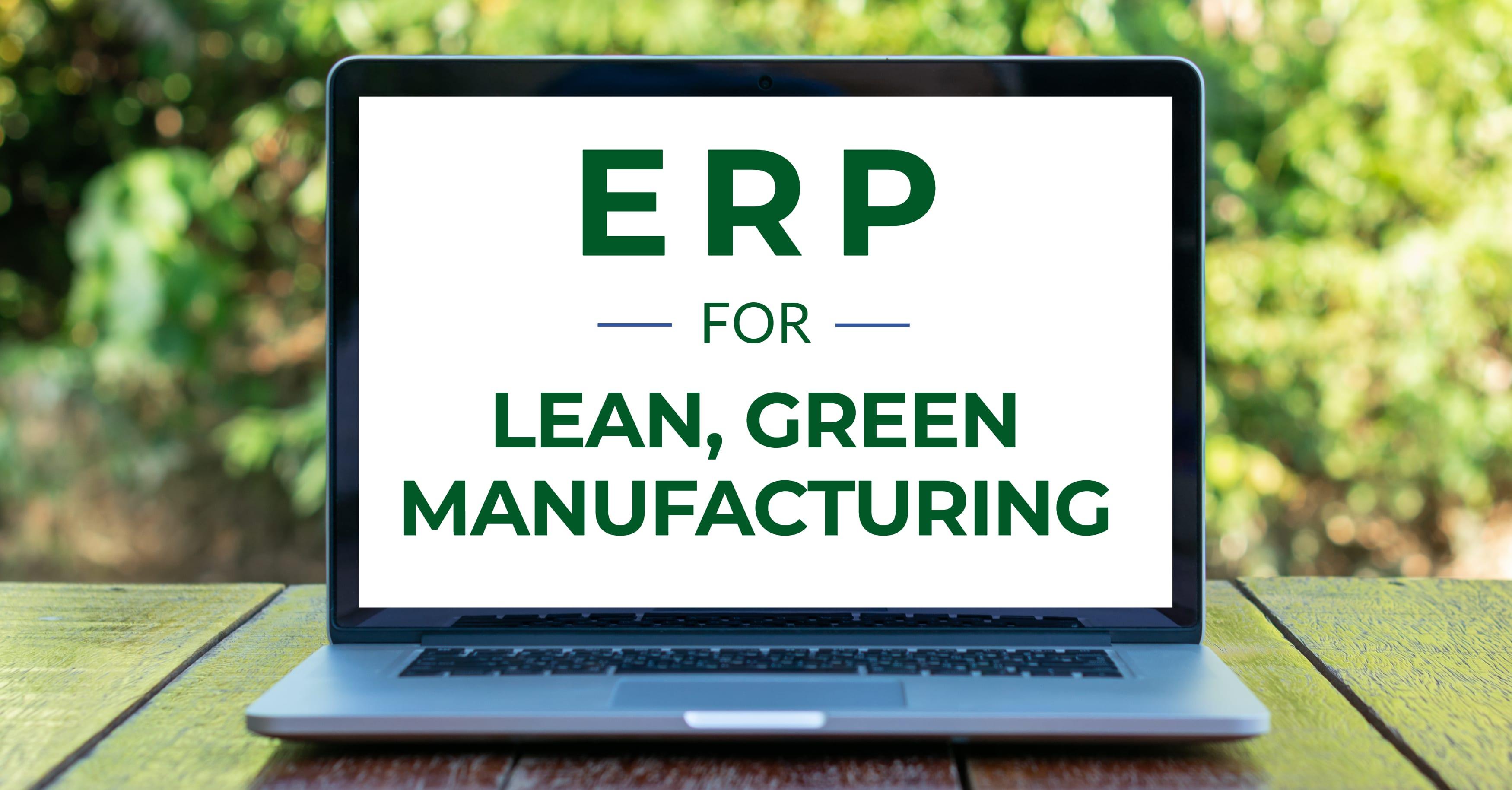 ERP Lean Green Manufacturing