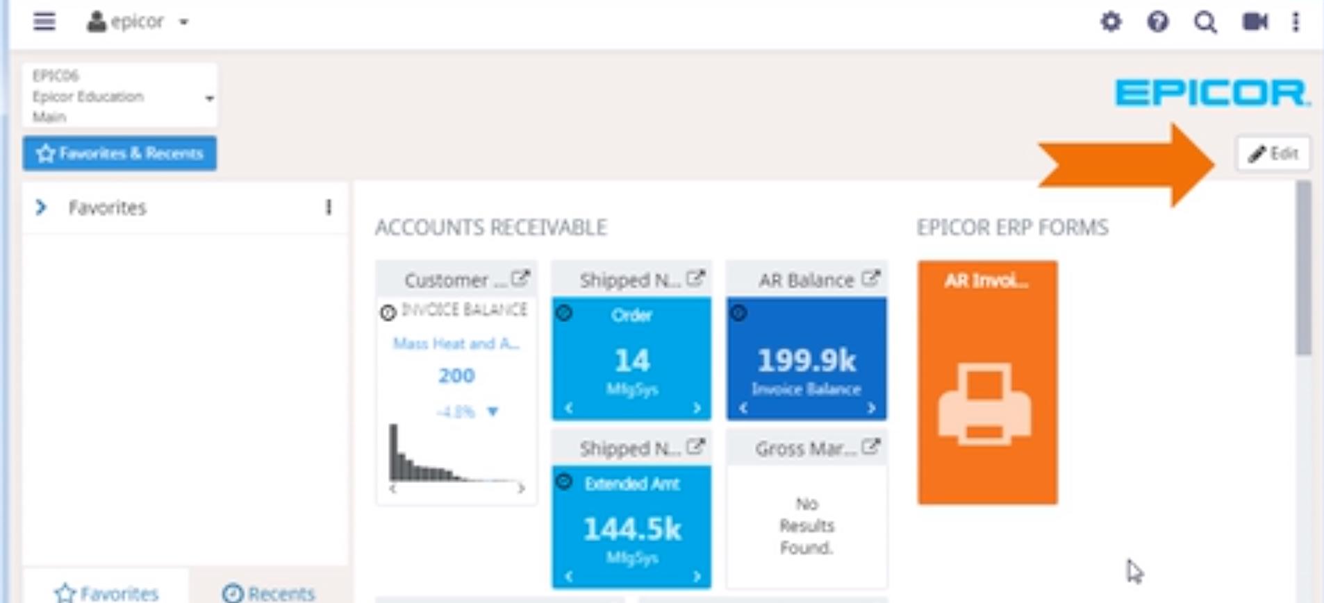 Epicor Home Page