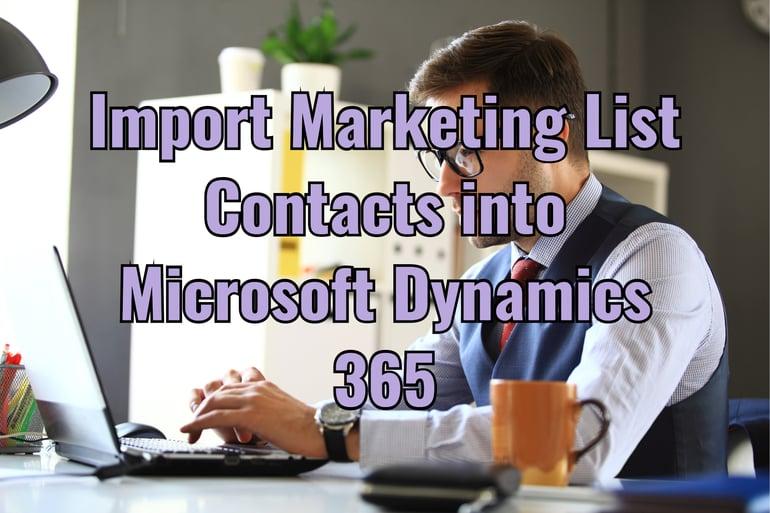 import marketing list contacts microsoft dynamics 365
