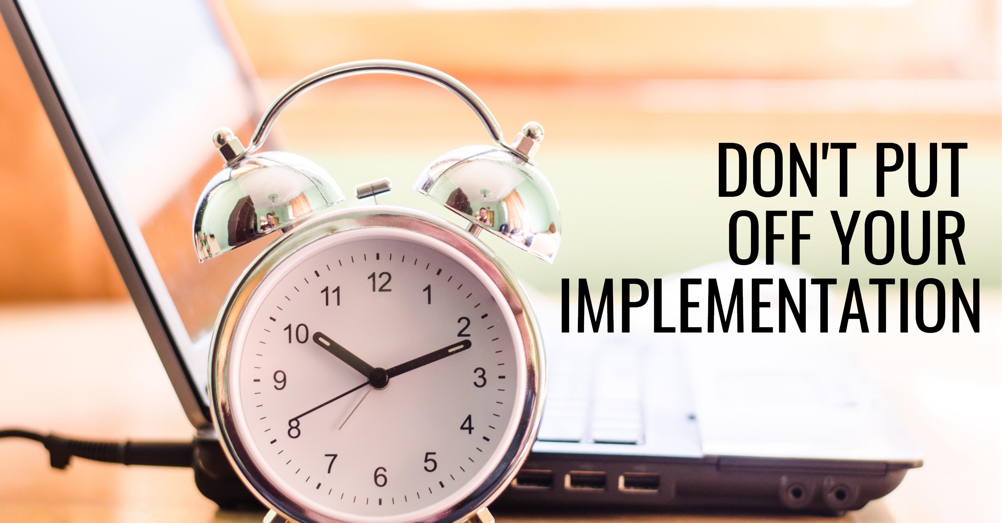 Put Off Epicor ERP Implementation