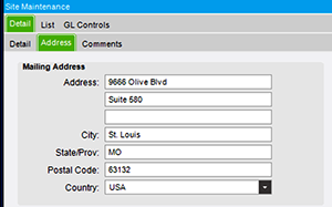 Configuring Default Site Address for Shipped Epicor Reports