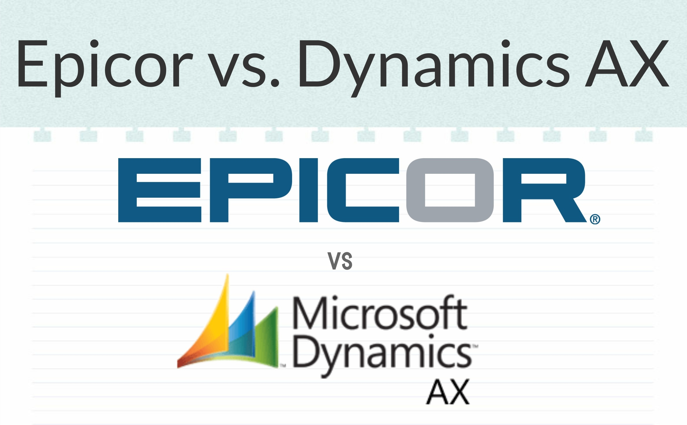 Epicor vs Dynamics AX | ERP Comparison