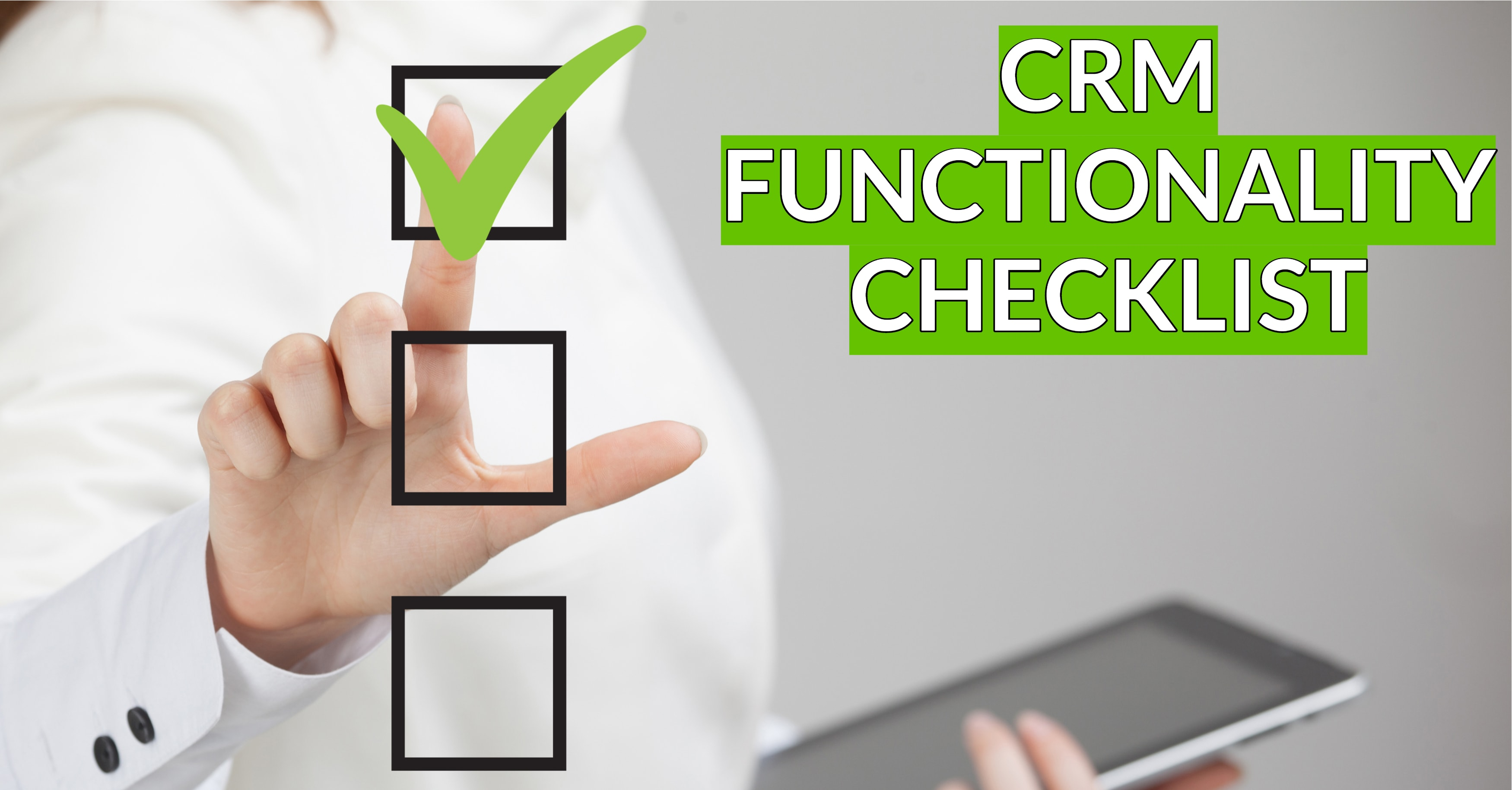CRM Functionality Checklist