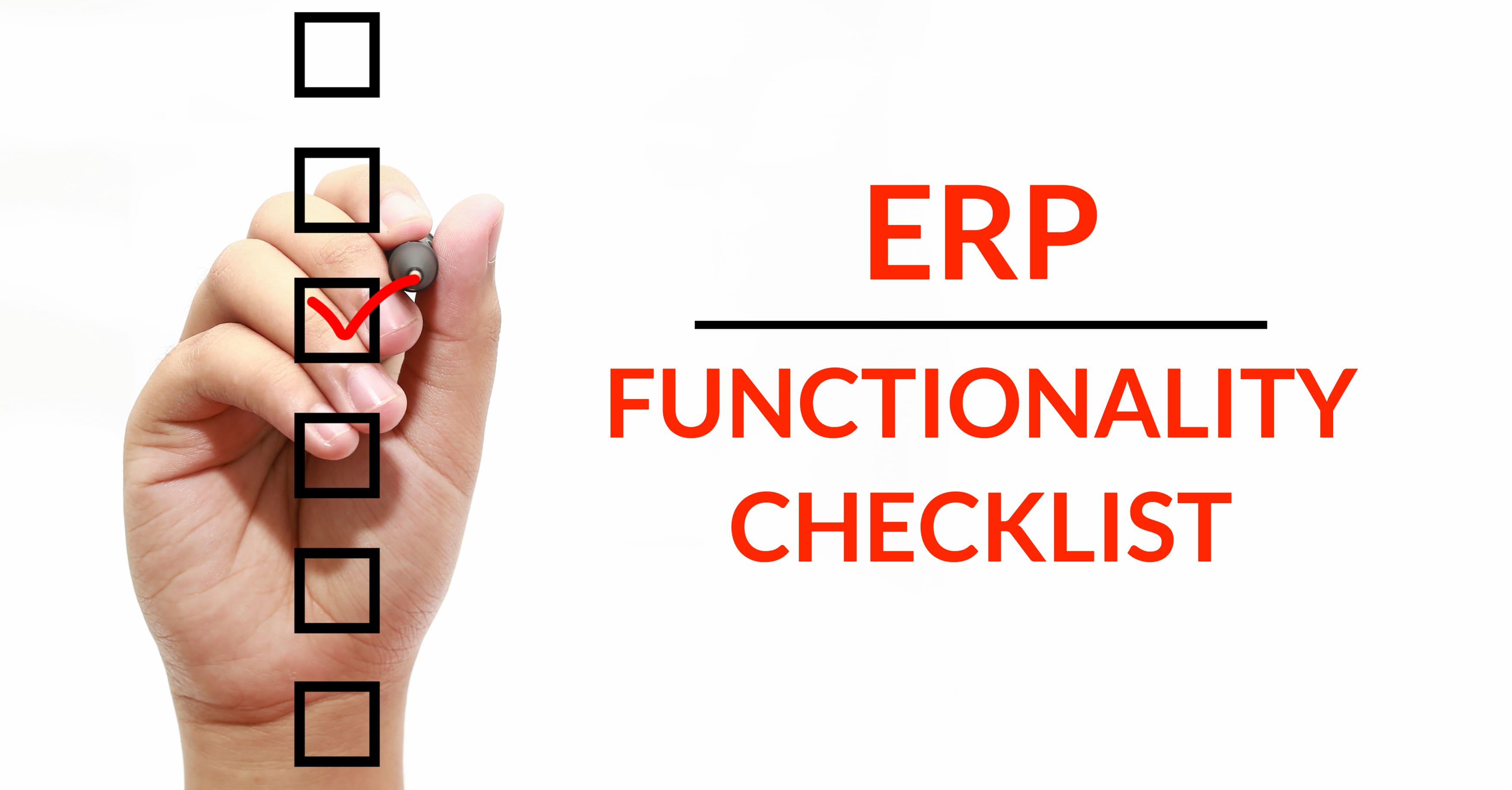 ERP Functionality Checklist