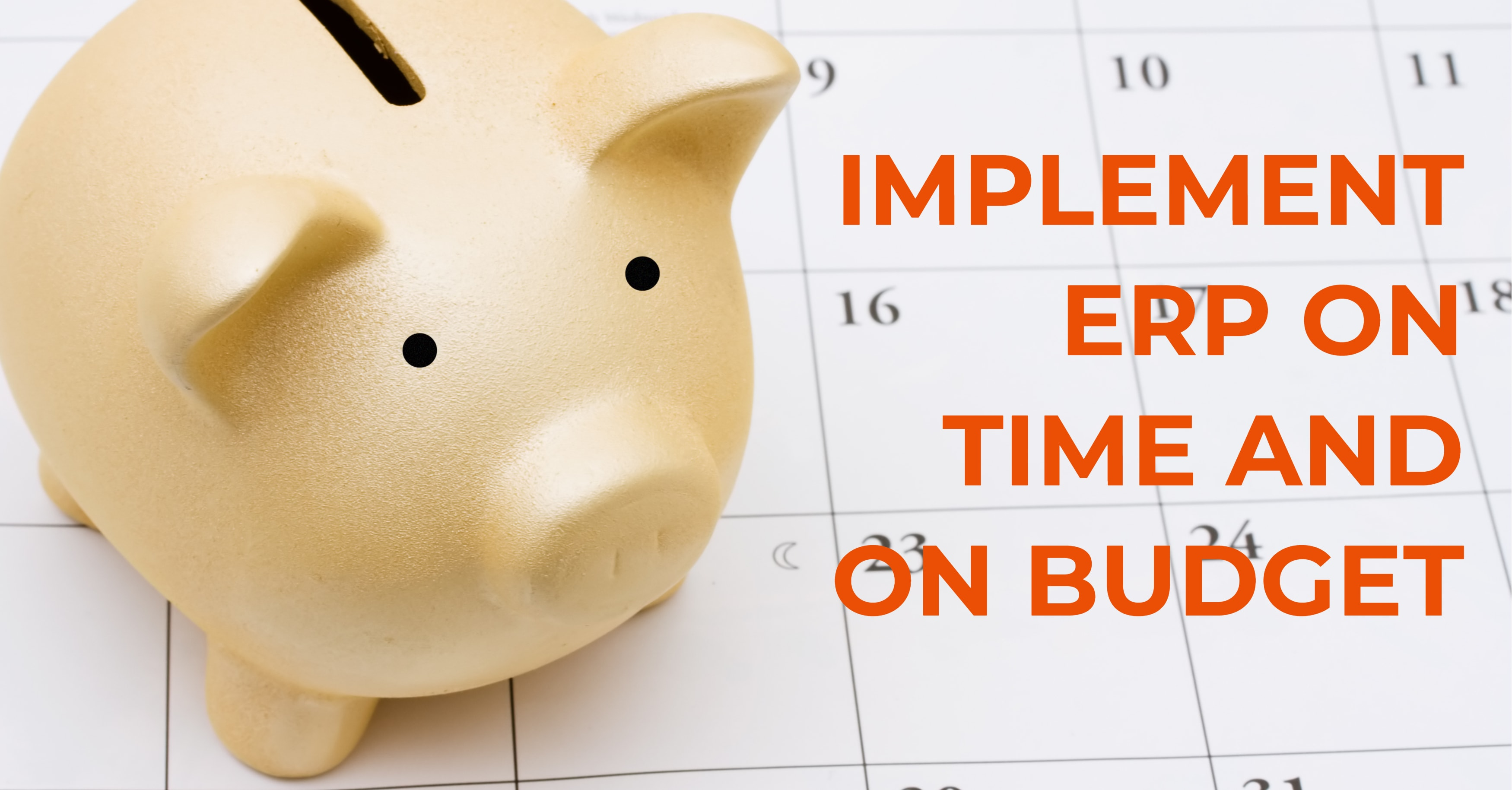 You Can Implement ERP On Time and On Budget