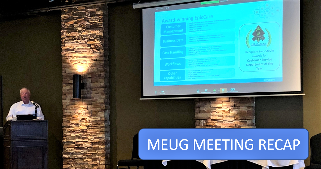 Midwest Epicor Users Group Meeting 1.23.2020